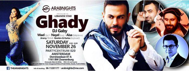 Arabnights Presents Star Ghady Ft. DJ Gaby, Aisa, Nayel & Wael